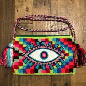 Evil eye crossbody Clutch Bag